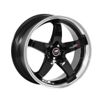 "Lenso D1R GLOSS BLACK/POLISHED DISH 17""(717108440D1RBKM404108)"