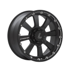"Lenso INTIMIDATOR 8 MATT BLACK/ CHAMPHER EDGE 20""(920BLNK20INT8BKC204100)"