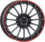 "Breyton Magic CW Matt Grey with Red Anodized Lip 18""(Magic CW 5)"