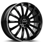 "GMP Stellar shiny black diamond lip 19""(GTALU810-422)"