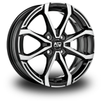 "MSW X4 Black Polished GLOSS BLACK FULL POLISHED 14""(W19284002T56)"