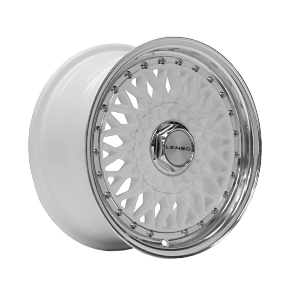 Lenso BSX WHITE / MIRROR LIP 15""