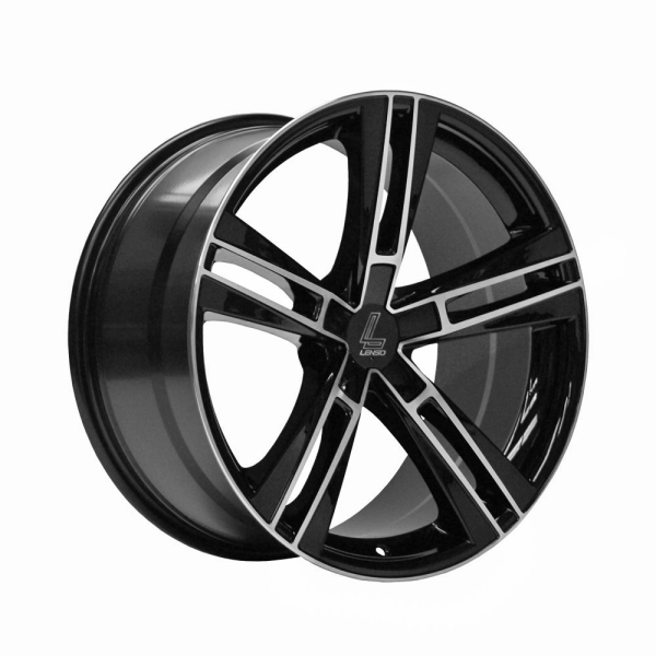 Lenso ES6 GLOSS BLACK/ POLISHED FACE 19""