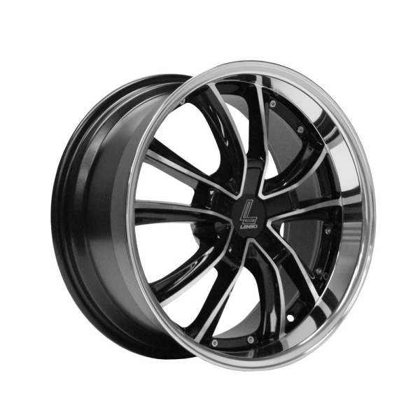 Lenso ES7 GLOSS BLACK/ POLISHED FACE&LIP 18""