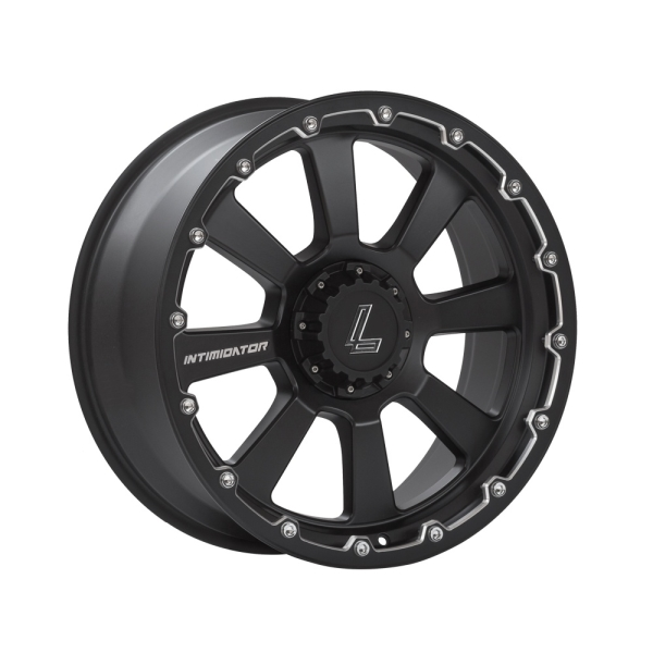 Lenso INTIMIDATOR 8 MATT BLACK/ CHAMPHER EDGE 20""