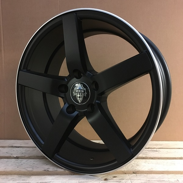 WheelPower H561 Mat sort/poleret 17""