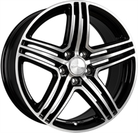 Wheelworld Wh12 GBP GLOSS BLACK POLISHED 20""