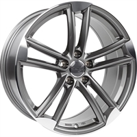 Wheelworld Wh27 Daytona Grey Full Machined DAYTONA GREY FULL MACHINED 18""