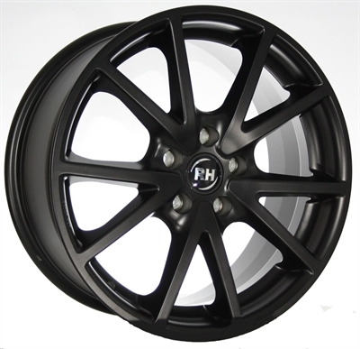 RH DE Sports Racing Schwarz lacki 17""