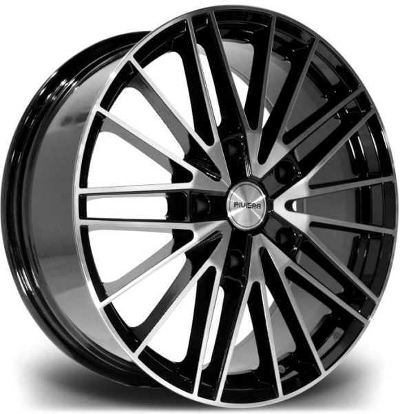 Riviera RTS BLACK POLISHED DTINT 20""